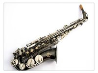 nave de la placa de níquel al por mayor-Saxofón de alta calidad SUZUKI Alto Eb Tune Envío gratis negro níquel plateado Saxofón de latón de alta calidad con caja de boquilla