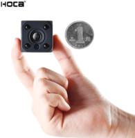 beyzbol kap video kamera toptan satış-Ücretsiz DHL gemi Süper mini HD WIFI ses IR kamera ile şarj edilebilir pil desteği 128G SD kart ve APP P2P tarafından uzaktan kumanda algılama