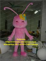 ingrosso costumi di formiche-Pink Ant Cricket Grig Insect Mascot Costume Adult Personaggio dei cartoni animati Canvass Affari Temi Televisione zz7541