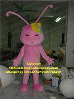 ameisen kostüme großhandel-Pink Ant Cricket Grig Insekt Maskottchen Kostüm Adult Cartoon Character Canvass Geschäftsaufträge Fernsehen Thema zz7541