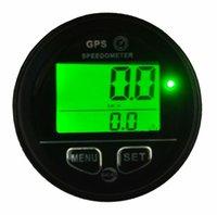 ingrosso misuratore odometro-Impermeabile contachilometri GPS Tachimetro Calibro retroilluminato verde cablaggio 60 millimetri
