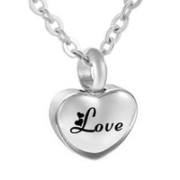Wholesale china gift for christmas resale online - Memorial Keepsake Urn Necklace for ashes for women Cremation Jewelry stainless steel Heart Pendant with Engraved