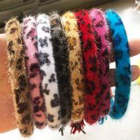Wholesale fashion plastic bangles for sale - Group buy Leopard Bracelet Keychain Colors Velvet Tassel Keyring Holder Bangle Wristlet Keychain Circle Key Ring Fashion Jewelry OOA7563