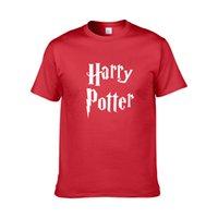 benzersiz kostüm tasarımları toptan satış-Sıcak Satış erkekler t gömlek harry potter hogwarts baskı gömlek benzersiz tasarım harry potter kostüm serin sihirli okul hogwarts t-shirt ZG13