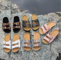 Wholesale eva clogs slipper for sale - Group buy Summer Sequins Cork Sandals Beach Antiskid Slippers Casual Cool Slippers Double Buckle Clogs Slip on Flip Flops Flats Shoe Footwear LT1230