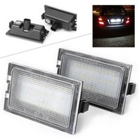luces de advertencia de acura al por mayor-Para Land Rover Discovery Series 3 / LR3 4 / LR4 Freelander 2 / LR2 Range Rover Sport Car LED Licencia Número Placa Luz Lámpara CE