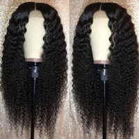 Wholesale best virgin wigs for sale - Group buy Silk Best Lace Front Human Hair Wigs Pre Plucked Full End Brazilian Curly Lace Front Wig For Black Women Virgin Hair