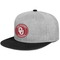Wholesale floral round hats resale online - 2019 Trends new listing flat adjustableOklahoma Sooners Round Logohipbacksummer casual fashion wildtruck hat tennis cap Summer hat cadet ca