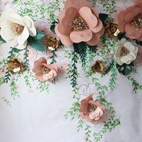 große papierblumenwände großhandel-Hochzeitsdekoration Papierblumen Große Rose Pfingstrose Chrysantheme Diy Dekoration Hochzeit Hintergrund Wanddekoration Scrapbooking Blumen