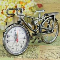 decoração de bicicleta para casa venda por atacado-Forma de bicicleta Relógios Mesa Despertador Desarrumado Criativo Retro Árabe Numeral Alarme Placement Home Decor Suprimentos Presente DBC DH0733