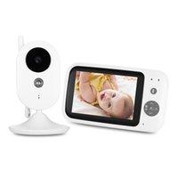 câmera lcd display ip venda por atacado-Monitor sem fio do bebê de ZR303 Digitas 3,5 polegadas 2.4GHz TFT LCD com visão nocturna