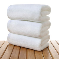 envío de algodón gratis al por mayor-Toalla de algodón al por mayor del hotel, toallas de baño insignia de encargo libre 35 * 75cm envío