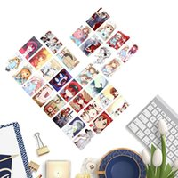 conjunto de cartazes de anime venda por atacado-30 Pçs / set Japão Anime Células No Trabalho Auto Made Cartão De Papel Lomo Cartão Com Foto Cartaz