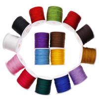ingrosso corda in nylon di bracciale-0.8mm 45M / rotolo filo di nylon filo nodo cinese Macrame Rattail braccialetto intrecciato stringa per bracciale collana