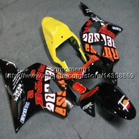 cbr 954 rr körper kits großhandel-23 farben + Schrauben repsol gelb motorradverkleidungen Body Kit für HONDA CBR954RR 2002 2003 CBR 954 RR 02 03 ABS motor Verkleidung