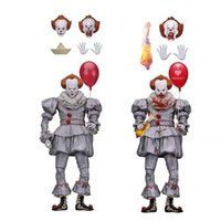 ingrosso bambole di pagliacci-2 Tipo NECA Stephen King's It Pennywise Joker Clown Horror Action Figure Toy Doll Regalo di Natale di Halloween