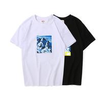 producción de impresión al por mayor-19SS diseñador de hombre para hombre camisetas de moda producción conjunta conjunta imprimir camisetas para hombre carta wan verano camiseta de algodón manga corta caliente