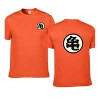dragon ball z master roshi venda por atacado-Dragon Ball Roshi mestre camiseta Homens Verão Top Dragon Ball Z Super Son Goku cosplay engraçado T-shirt top vegeta anime camiseta