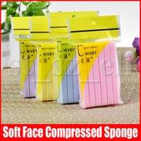 esponja de lavagem facial venda por atacado-12 PCS = 1 lote macio comprimido esponja de limpeza Rosto Esponja Facial Limpeza Lave Pad Esfoliante Cosmetic Puff face da limpeza do sopro
