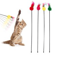 Wholesale toys made sticks resale online - 5pcs Cat Toys Make A Cat Stick Feather Teaser Toys For Cat Kitten Catcher Interactive Training Products For Cats Pet Supplies