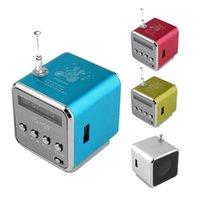 altavoz micro reproductor de mp3 al por mayor-Soporte Mini Tarjeta SD TF Portátil Micro USB Estéreo Super Bass Altavoz MP3 / 4 Reproductor de Música Radio FM Pantalla IB