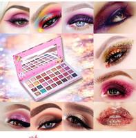 eiscreme auge großhandel-Rose Wasserdicht Lidschatten-Palette Make-up 32 Farben Seidig Lidschatten Schimmer Matt Lidschatten Eis Erdfarben Lidschatten