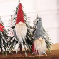 adornos de elfo al por mayor-Nueva Navidad hecha a mano sueca Gnomo escandinavo Tomte de Santa Nisse nórdica felpa Elf juguete tabla del ornamento del árbol de Navidad Decoración HH9-2601