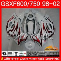 Wholesale gsxf fairings resale online - Body For SUZUKI KATANA red flames GSXF GSXF600 HC GSX750F GSX600F GSXF750 Fairing kit