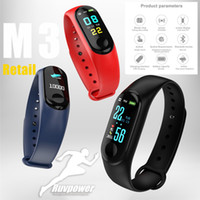 Wholesale bluetooth fitbit smart watch online – M3 plus Smart Band bluetooth Bracelet Heart Rate Watch Activity Fitness Smart Tracker PK fitbit XIAOMI apple watch with Retail Box
