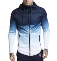 Men's sport Jacket Winter Spring Gradual Change Overcoat Warm Long Sleeve Top Sale Men's running Jacket chaqueta hombre