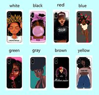 ingrosso regina iphone-Babaite Queen Afro Melanin Poppin Black Girl Custodia morbida in silicone TPU per iPhone 8 7 6 6S Plus X XS 5 5S SE XR Cover