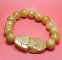 pulseiras de jade amarelo venda por atacado-Jade amarelo Natural jade Contas pulseiras 2018 hotsell pulseiras frete grátis whosale
