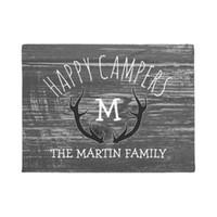счастливые полы оптовых-Серый лес оленьих рогов Фамилия Happy Campers Doormat Украшение дома Вход нескользящий дверной коврик резиновый моющийся пол