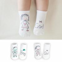 bebek çorapları yeni varış toptan satış-Yeni Geliş Yenidoğan Çorap Karikatür% 100 Pamuk Bebek Çorap No atımlı Bebek Pamuk