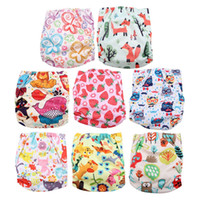 Wholesale baby swimming diapers resale online - Cute Waterproof Swim Diapers Pool Pants Unisex Adjustable Baby Swim Diaper Pant One Size Breathable Cover Suit for Babies