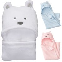 Wholesale baby sleeping bags for strollers for sale - Group buy baby bear sleeping bag coral fleece blankets to swaddle a baby stroller bebes wrap envelope for newborn