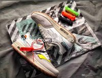 ingrosso scarpe aeree nere-Off Air New White 1 Uomo 87 walkning Scarpe Classic Maxes Uomo 1s walkning Scarpa Nero Grigio Sport Sneakers Casual Scarpe Outdoor Scarpe da jogging