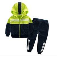 Wholesale chinese tracksuits resale online – 2019 Children Clothing Sports Suit Hooded Outwears Long Sleeve and pants Boys Clothing Set Casual Tracksuit