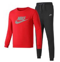 yüksek markalı giyim ceketi toptan satış-Yüksek Kalite Erkek Tişörtü Eşofman Marka tasarım Giyim erkek Eşofman Ceketler Spor Setleri Koşu Takım Elbise