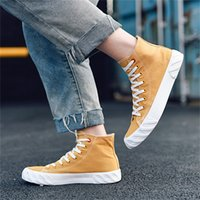 Wholesale denim korean canvas shoes resale online - Fashion Ulzzang Canvas Shoes Korean Ankle Boot Teenage Casual Plimsolls Teen Rugged Summer Board Shoes Trendy Skate Sneakers