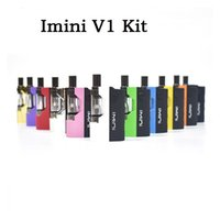 Wholesale Authent Imini V1 Thick Oil Cartridges Vaporizer Kit mAh Box Mod Battery Thread Liberty Tank Wax Atomizer Vape Pen Starter Kits by dhl