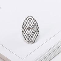 925 maschenringe großhandel-Vintage Exquisite Oval Hohlnetz Ring für Männer Echt 925 Sterling Silber Frauen Ringe Feine Engagement Schmuck Geschenke YMR376