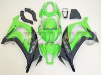 carenado zx 11 al por mayor-Nuevo kit de carenados de inyección de ABS adecuado para Kawasaki Ninja ZX-10R ZX10R 10R 2011 2012 2013 2014 2015 body 11 12 13 14 15 color verde agradable