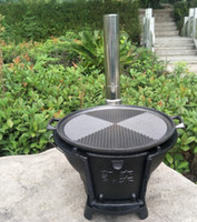 Castiron charcoal barbecue grill wood burning stove heating stove picnic wood stove adjustable firepower 098