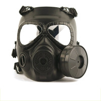 máscaras de paintball completo al por mayor-Máscaras cabeza táctica de la resina de la cara llena Niebla Ventilador Para CS Wargame Airsoft Paintball Maniquí Máscara de gas con ventilador para la protección de Cosplay