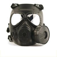airsoft paintball vollgesichtsmaske großhandel-Tactical Kopf Masken Harz Full Face Nebel-Ventilator für CS Wargame Airsoft Paintball Dummy-Gasmaske mit Ventilator für Cosplay Schutz