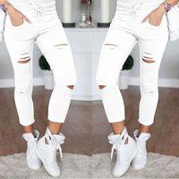 ingrosso buchi neri di ghette-Nuove donne moda foro sottile Leggings sportivi Fitness tempo libero piedi sportivi pantaloni della tuta neri pantaloni grigi blu navy cava