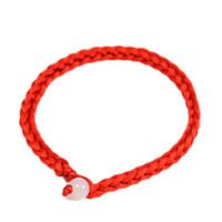 pulsera de trenza china al por mayor-Estilo simple clásico suerte chino trenzado cuerda roja cuerda cuerda regalo pulsera