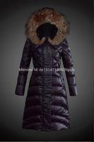 dama de lujo chaqueta abajo al por mayor-Cuello de piel de lujo grande 2019 nueva chaqueta de invierno de las mujeres adelgaza la chaqueta abajo cremalleras más tamaño abajo abrigos de calidad superior abajo Parka