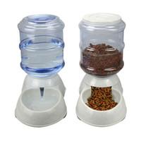 köpek çeşmesi su kap toptan satış-Yeni 3.5l / 11l Otomatik Pet Besleyici İçme Çeşmesi Kedi Köpek Plastik Gıda Kase Evcil Su Pınarı E2s Q190523